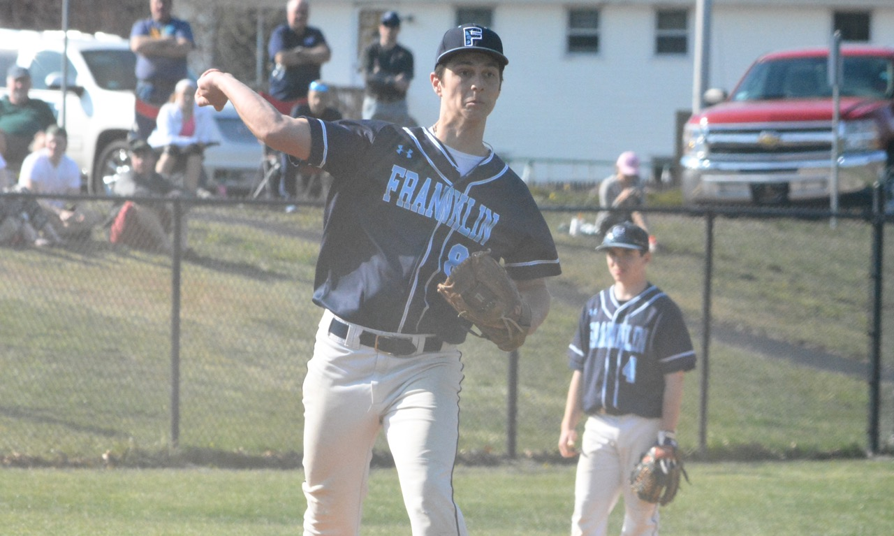 Mike Skaza threw 5-2/3 innings against Feehan to pick up the no decision for Franklin. (Josh Perry/HockomockSports.com)